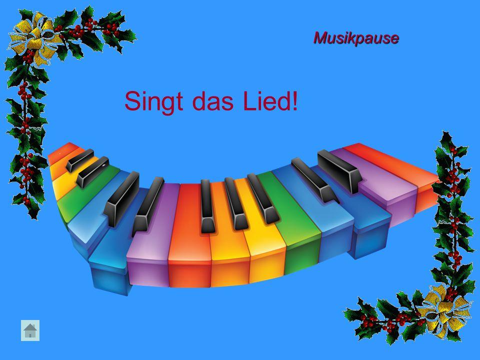 Singt das Lied! Musikpause