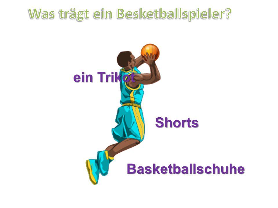 ein Trikot Shorts Basketballschuhe