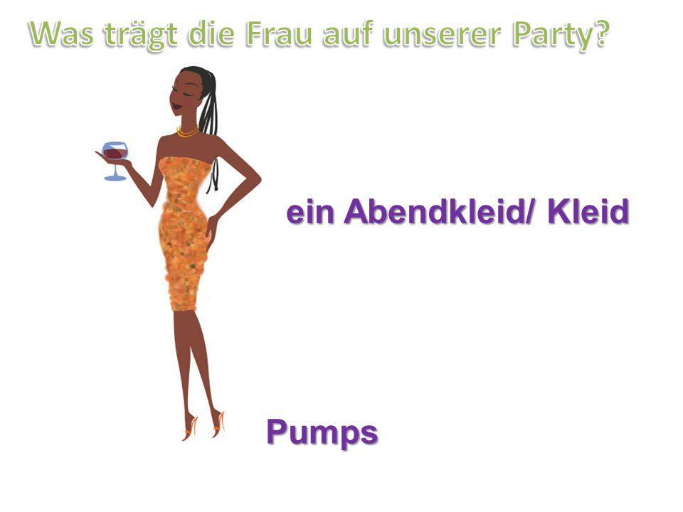 Pumps ein Abendkleid/ Kleid