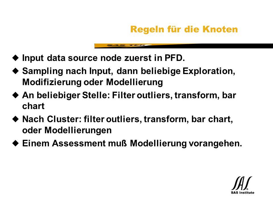 SAS Technical Expertise and Know-how ® Regeln für die Knoten uInput data source node zuerst in PFD.