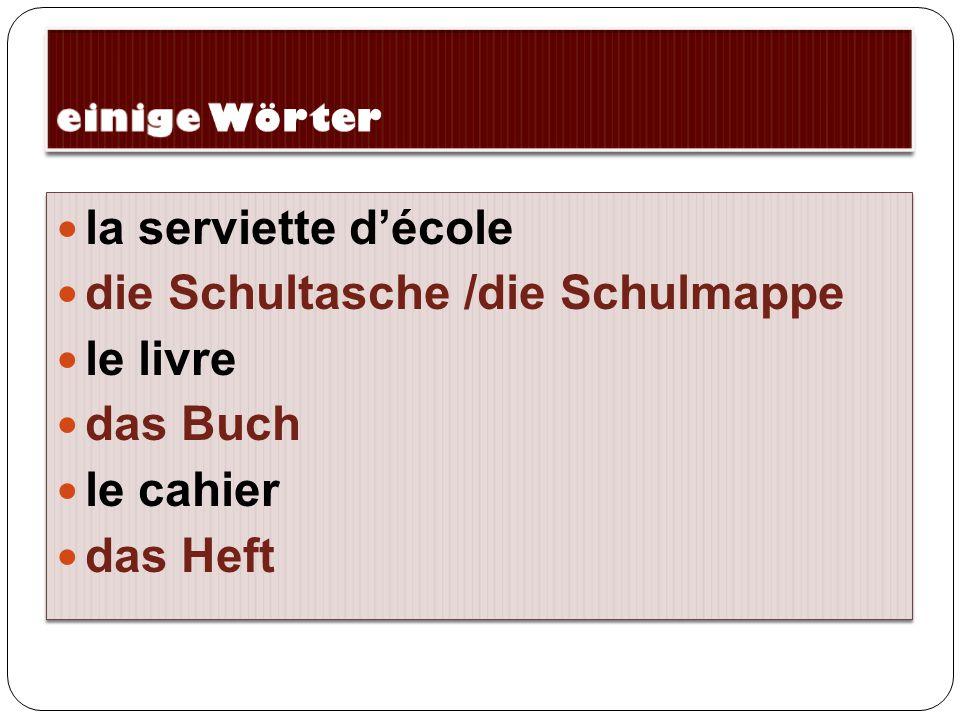 Le lundi, j'ai l'allemand de 10h00 à 10h40 Am Montag habe ich Deutsch von 10h00 bis 10h40 Uhr.