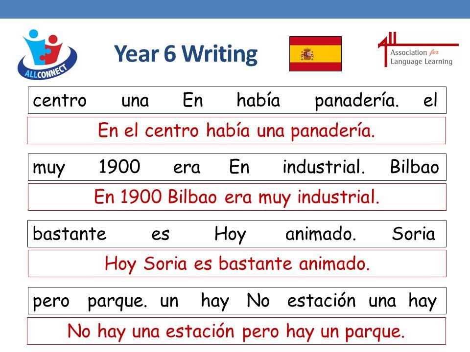 Year 6 Writing centro una En había panadería.el muy 1900 era En industrial.