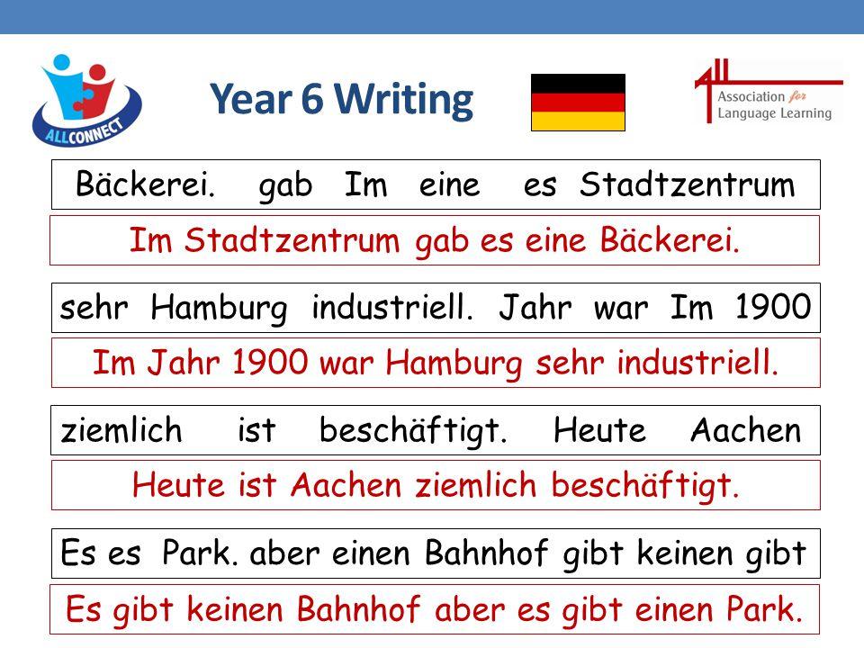 Year 6 Writing Bäckerei.gab Im eine es Stadtzentrum sehr Hamburg industriell.