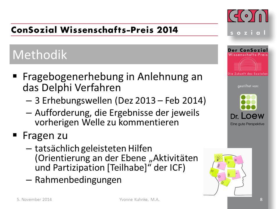  Fragebogenerhebung in Anlehnung an das Delphi Verfahren – 3 Erhebungswellen (Dez 2013 – Feb 2014) – Aufforderung, die Ergebnisse der jeweils vorheri