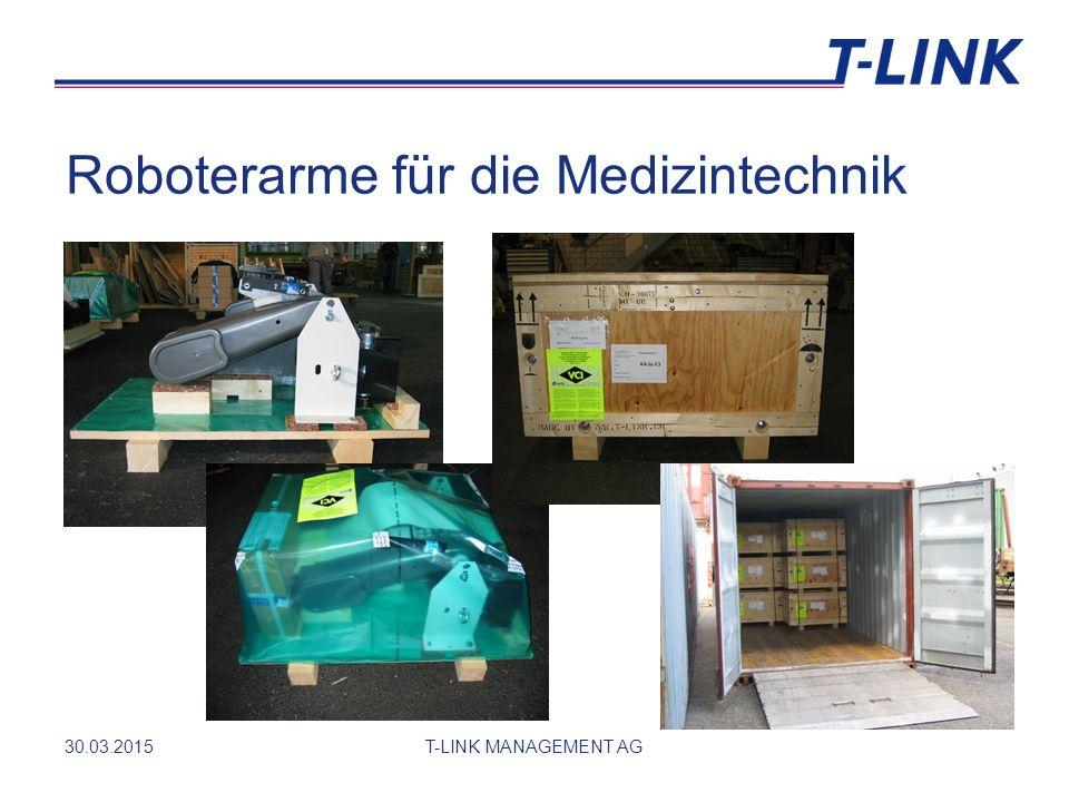 Roboterarme für die Medizintechnik 30.03.2015T-LINK MANAGEMENT AG