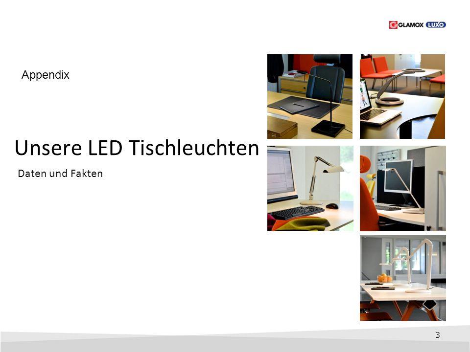 3 Unsere LED Tischleuchten Daten und Fakten Appendix