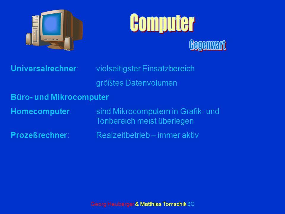 Georg Heuberger & Matthias Tomschik 3C Grafikkarten Auflösung und Zahl der Farben von der Güte der Karte abhängig Accelerator-Karten:eigener Prozessor