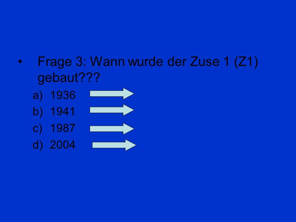 Frage 2: Wie wird das Binärsystem noch genannt??? a) Trialsystem b) Monosystem c) Dualsystem d) Absturzsystem