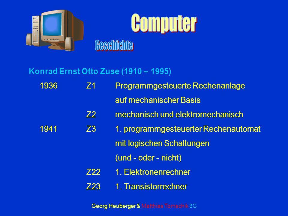 Georg Heuberger & Matthias Tomschik 3C Binärsystem Grundregel: 1 + 0 = 1 1 + 1 = 10 1 x 1 = 1 1 x 0 = 0 1 = 1; 2 = 10; 3 = 11; 4 = 100; 5 = 101; 6 = 1