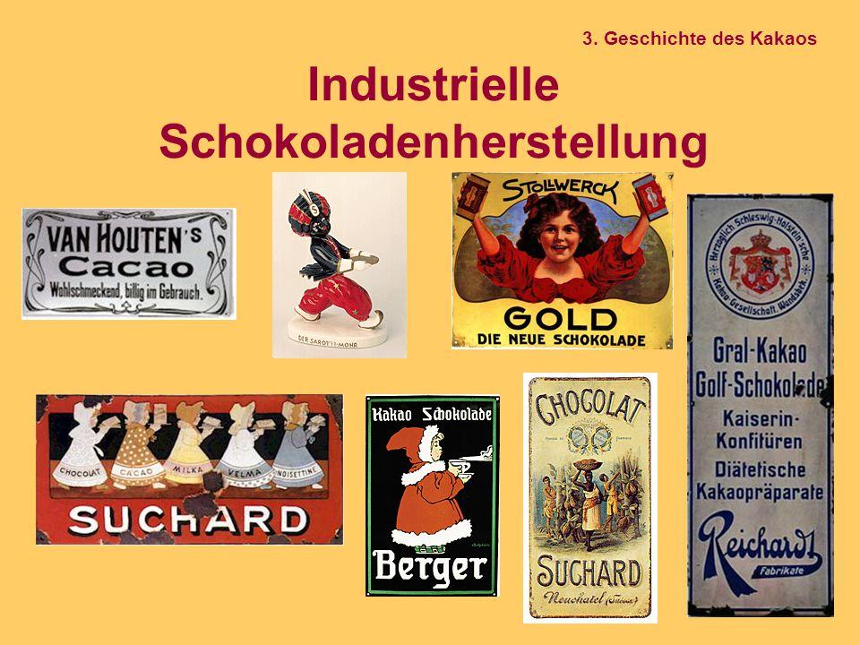 Industrielle Schokoladenherstellung 3. Geschichte des Kakaos