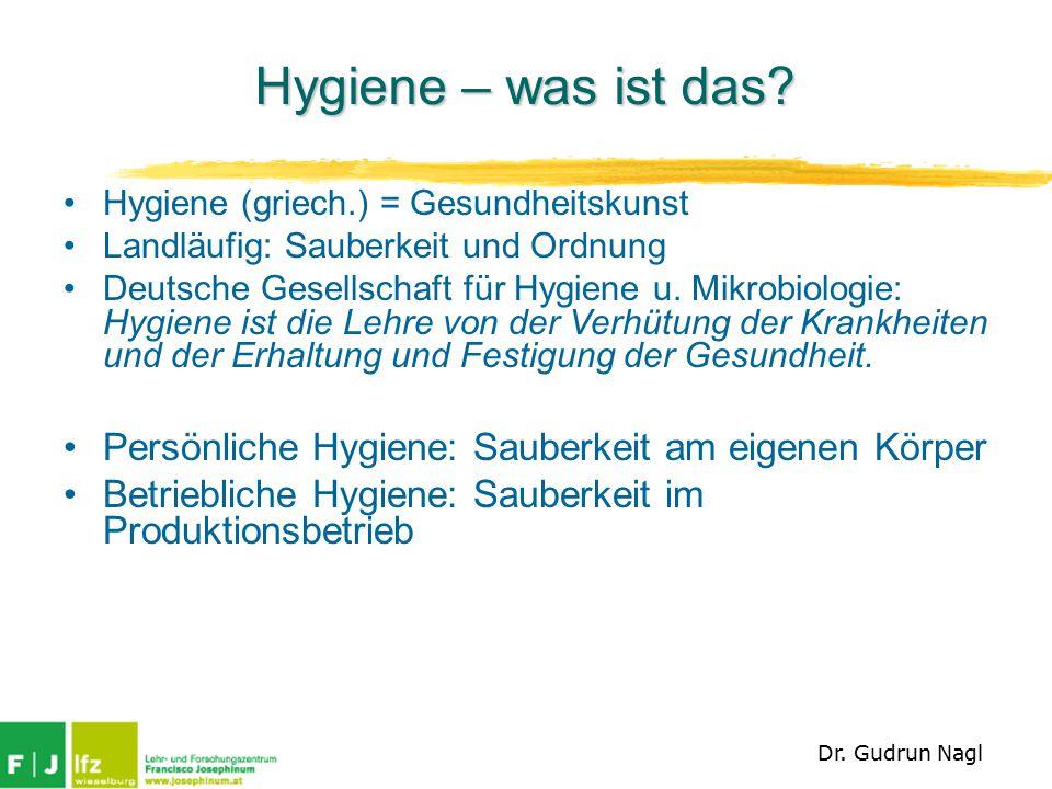 Hygiene – seit wann.