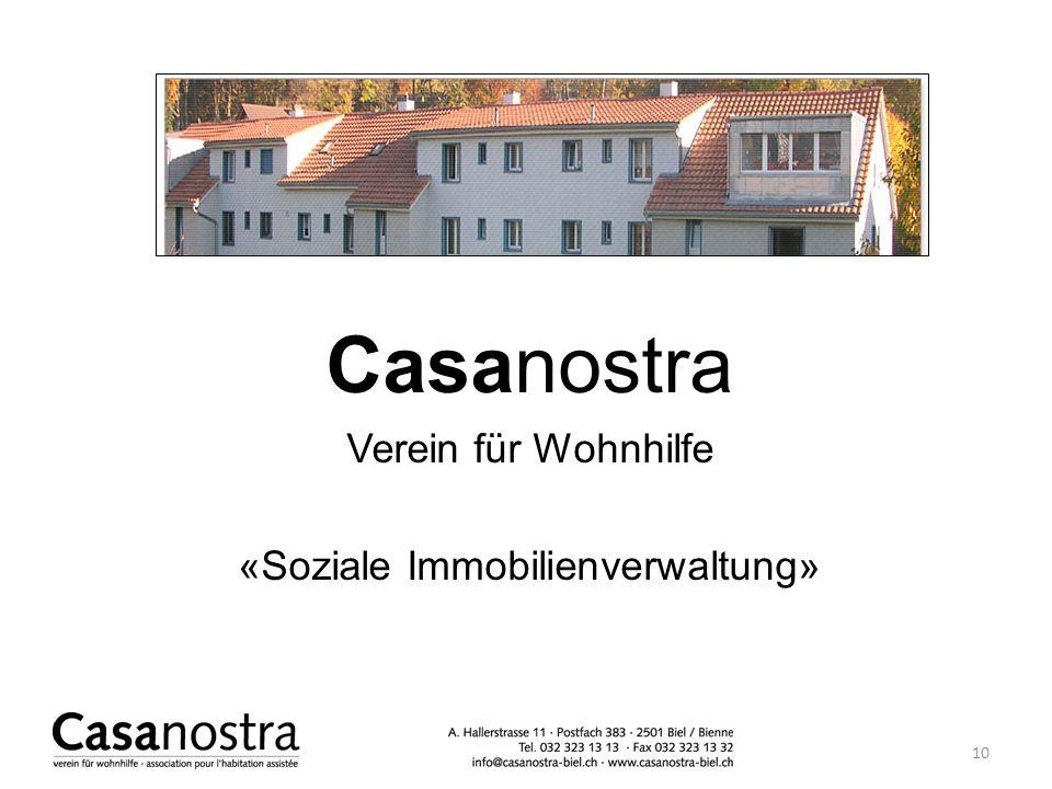 Casanostra Verein für Wohnhilfe «Soziale Immobilienverwaltung» 10