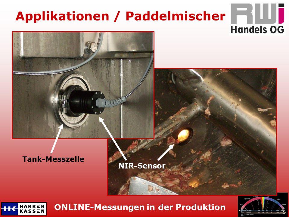 ONLINE-Messungen in der Produktion Applikationen / Kutter Edelstahlrohr mit NIR-Sensor