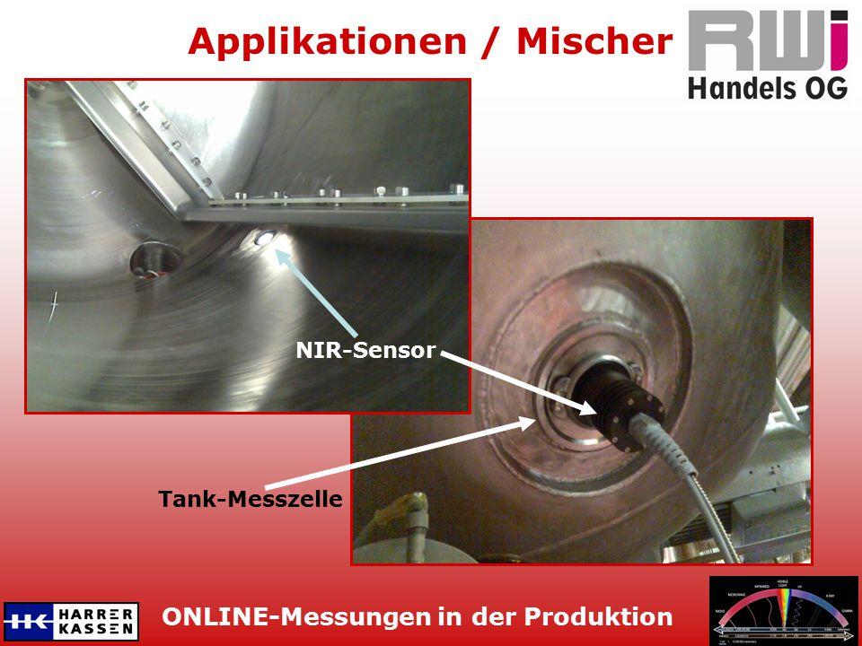 ONLINE-Messungen in der Produktion Applikationen / Mischer Tank-Messzelle NIR-Sensor