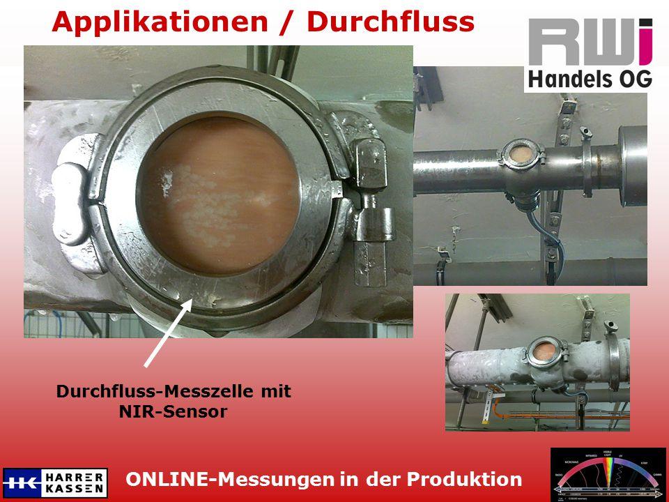 ONLINE-Messungen in der Produktion Applikationen / Tumbler Tankmesszelle mit NIR-Sensor