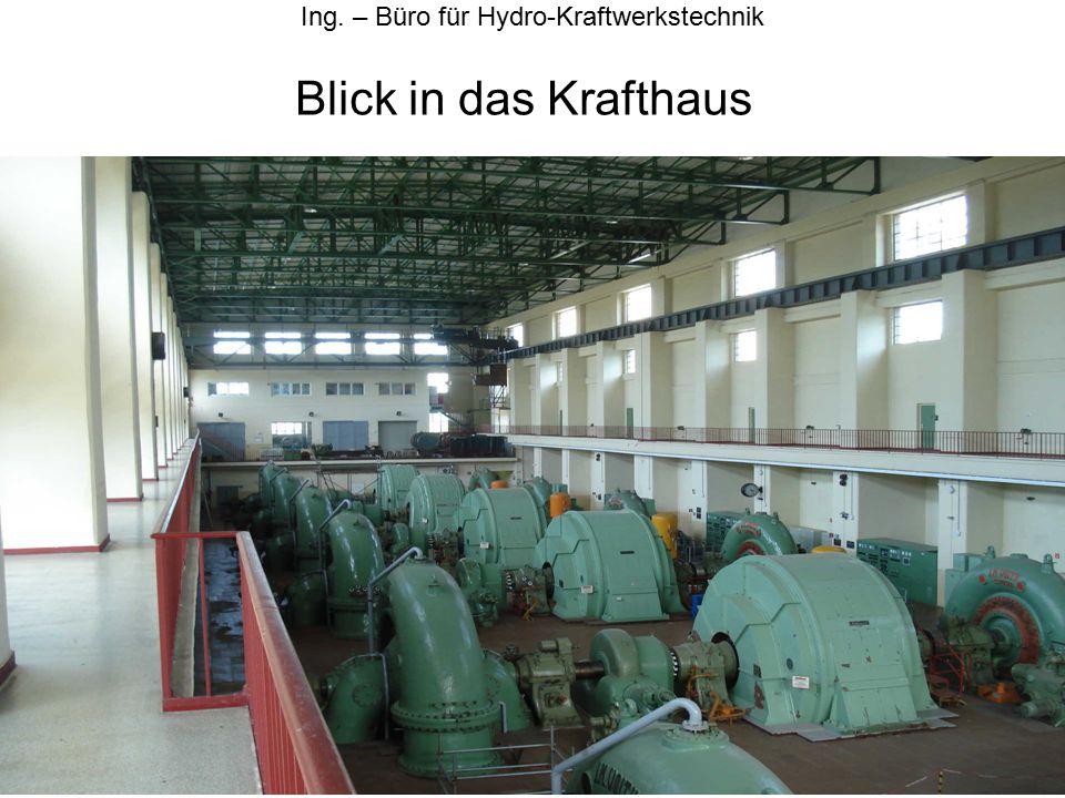 Blick in das Krafthaus Ing. – Büro für Hydro-Kraftwerkstechnik