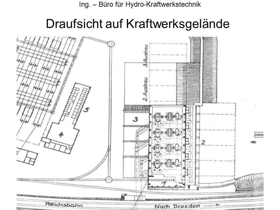 Querschnitt durch Maschinensatz Ing. – Büro für Hydro-Kraftwerkstechnik