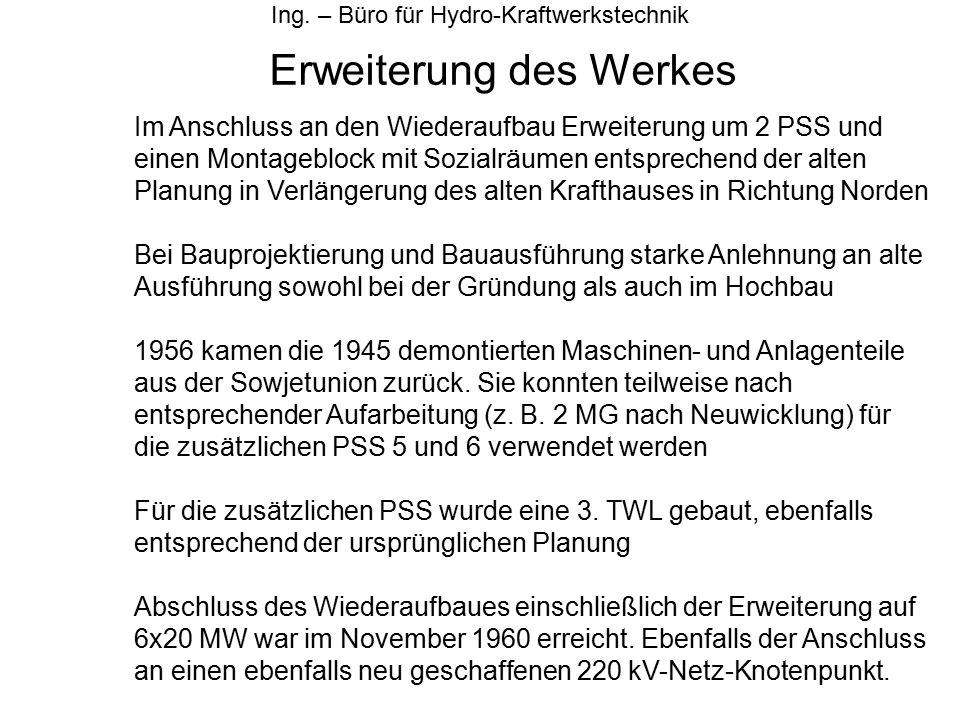 Erweiterung des Werkes Ing.