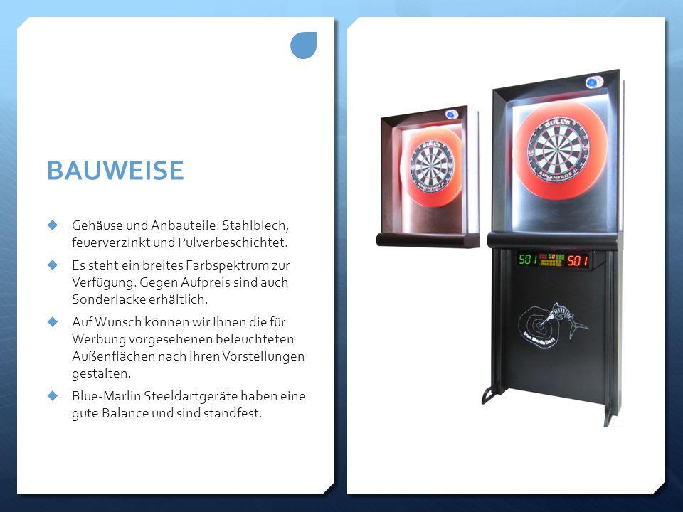 BAUWEISE  Gehäuse und Anbauteile: Stahlblech, feuerverzinkt und Pulverbeschichtet.  Es steht ein breites Farbspektrum zur Verfügung. Gegen Aufpreis