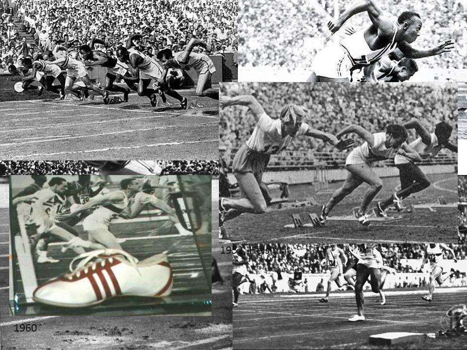 1896, Athen um 1900 1900, Ungarn 1908, London 1928, Amsterdam 1936, Berlin 1948, London 1952, Helsinki 1960 Entwicklungen und Trends in der Leichtathletik9