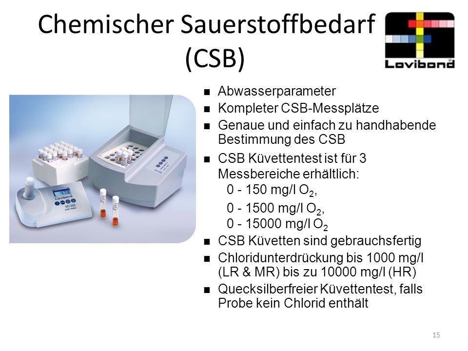 Chemischer Sauerstoffbedarf (CSB) Abwasserparameter Kompleter CSB-Messplätze Genaue und einfach zu handhabende Bestimmung des CSB CSB Küvettentest ist