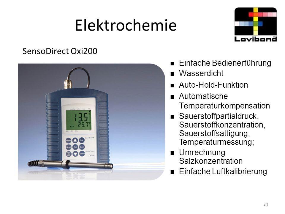 Elektrochemie SensoDirect Oxi200 Einfache Bedienerführung Wasserdicht Auto-Hold-Funktion Automatische Temperaturkompensation Sauerstoffpartialdruck, S