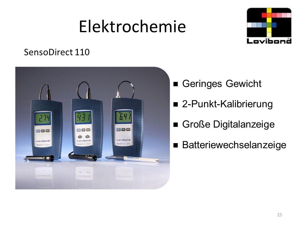 Elektrochemie SensoDirect 110 Geringes Gewicht 2-Punkt-Kalibrierung Große Digitalanzeige Batteriewechselanzeige 25