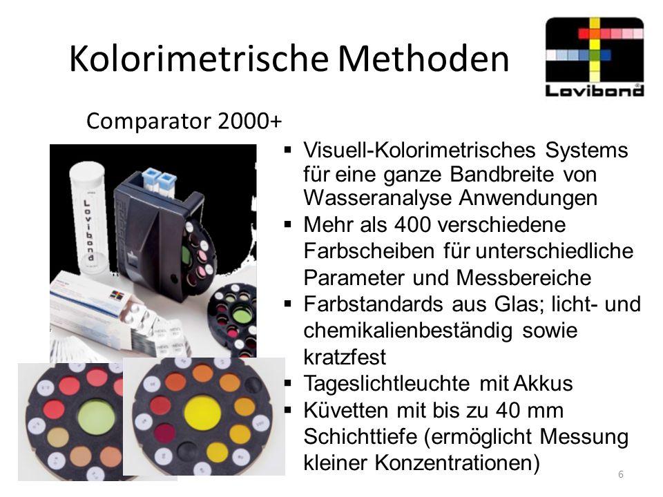 Kolorimetrische Methoden Comparator 2000+  Visuell-Kolorimetrisches Systems für eine ganze Bandbreite von Wasseranalyse Anwendungen  Mehr als 400 ve