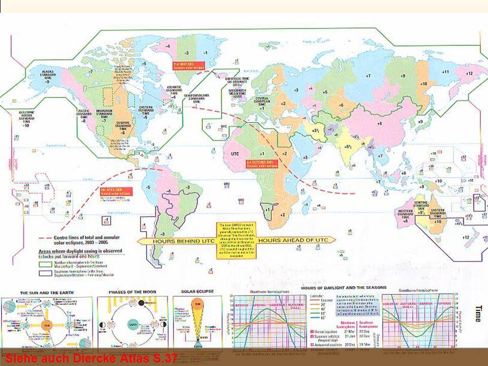 World Time Zone Map Siehe auch Diercke Atlas S.37