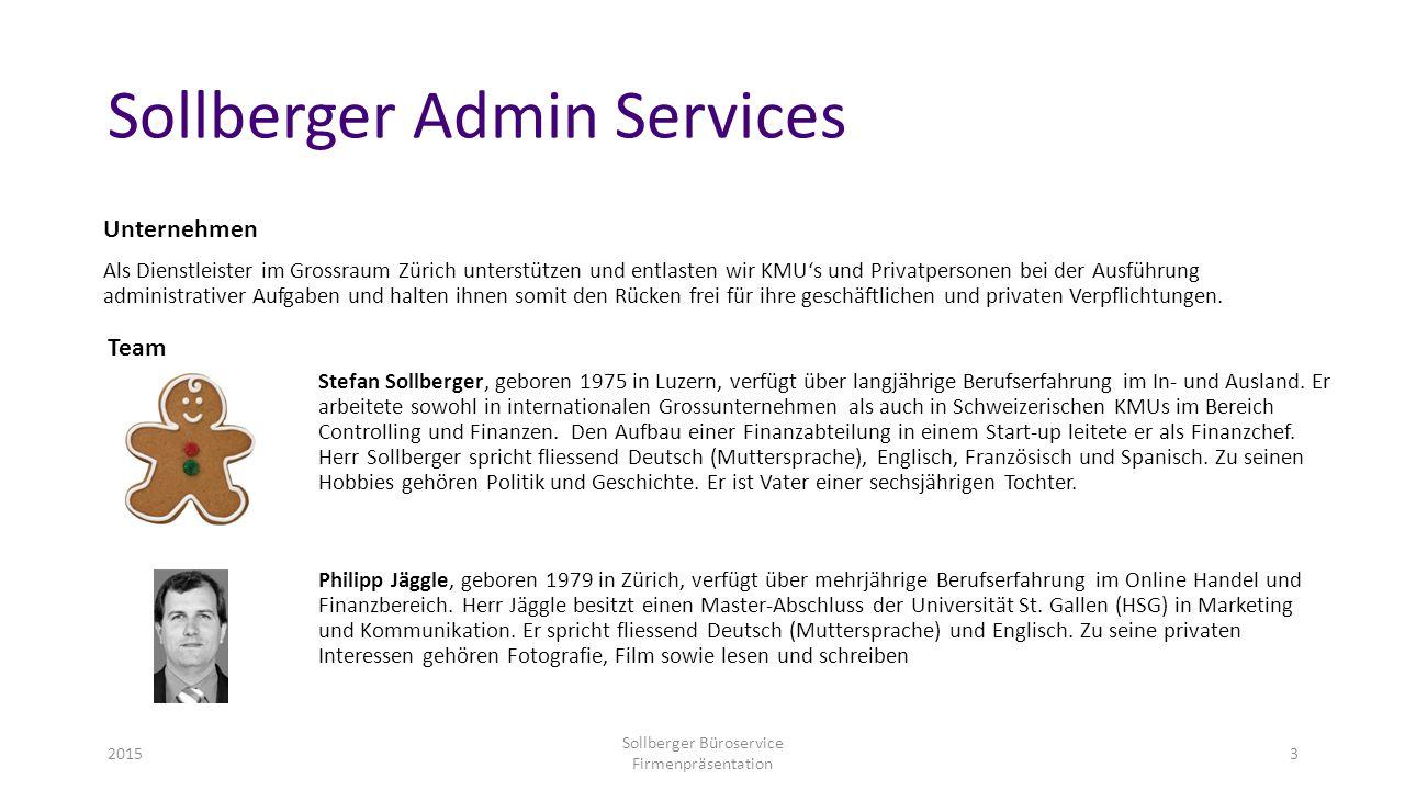 Sollberger Admin Services Unternehmen Als Dienstleister im Grossraum Zürich unterstützen und entlasten wir KMU's und Privatpersonen bei der Ausführung