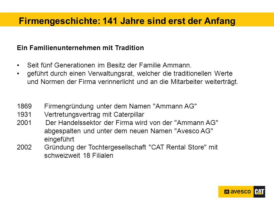 Firmengeschichte: 141 Jahre sind erst der Anfang Ein Familienunternehmen mit Tradition Seit fünf Generationen im Besitz der Familie Ammann.