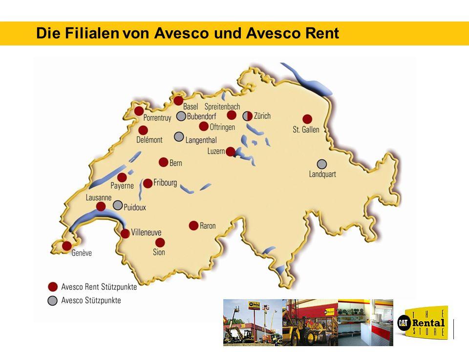 Die Filialen von Avesco und Avesco Rent