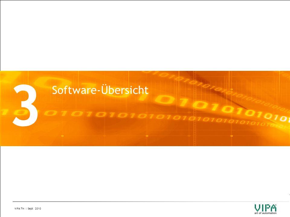 VIPA TM | Sept 2010 3 Software-Übersicht