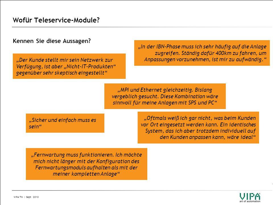 VIPA TM | Sept 2010 Agenda 1.Kurzbeschreibung 2. Modul-Übersicht 3.