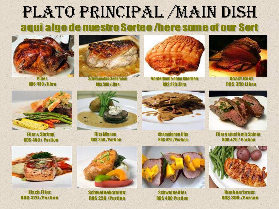Plato Principal /Main Dish