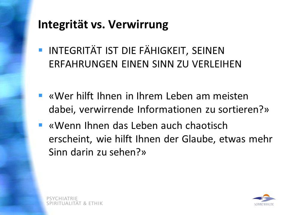 Integrität vs.