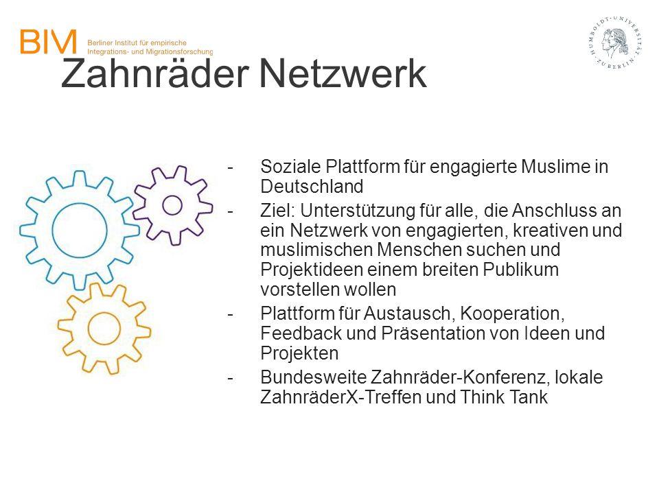 Zahnräder Netzwerk -Soziale Plattform für engagierte Muslime in Deutschland -Ziel: Unterstützung für alle, die Anschluss an ein Netzwerk von engagiert
