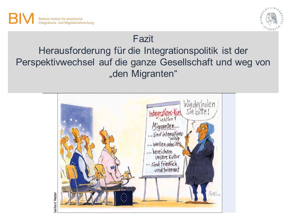 """Fazit Herausforderung für die Integrationspolitik ist der Perspektivwechsel auf die ganze Gesellschaft und weg von """"den Migranten"""""""