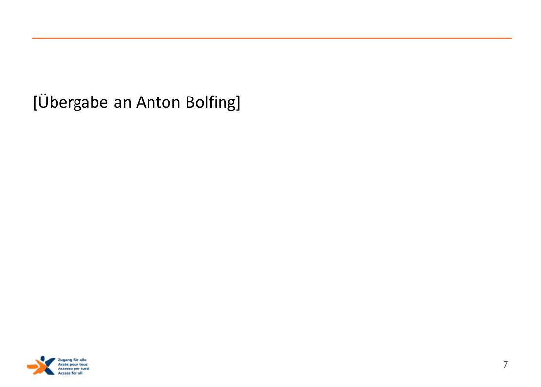[Übergabe an Anton Bolfing] 7