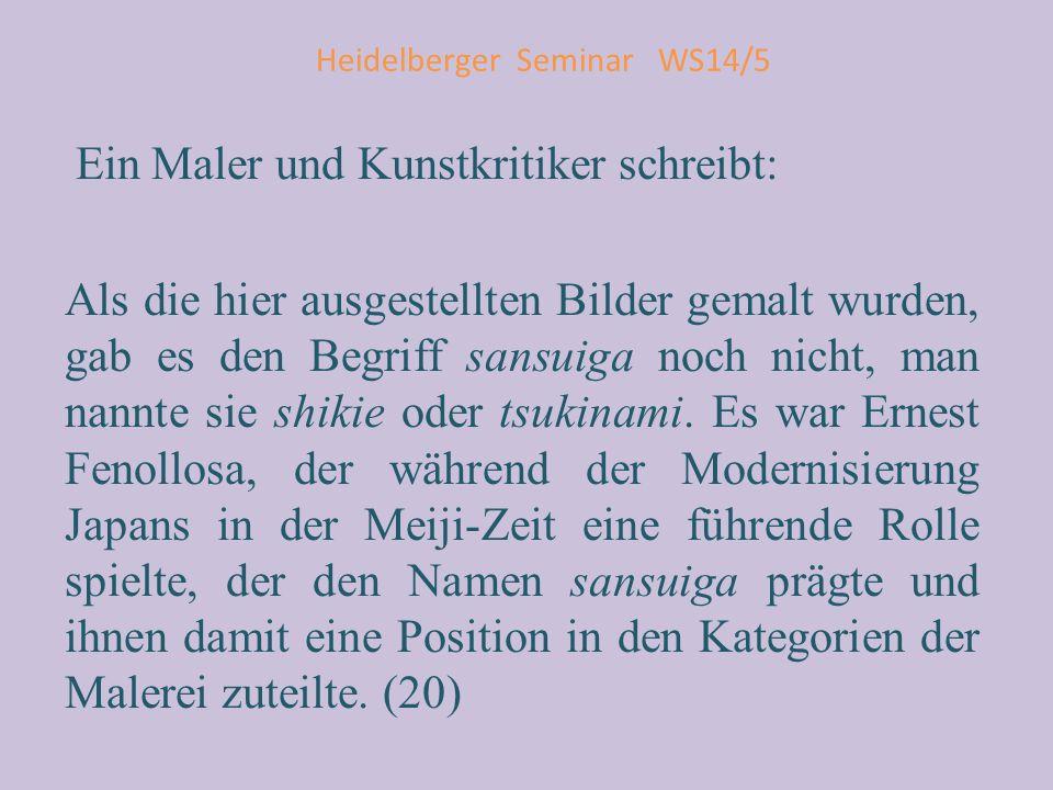 Heidelberger Seminar WS14/5