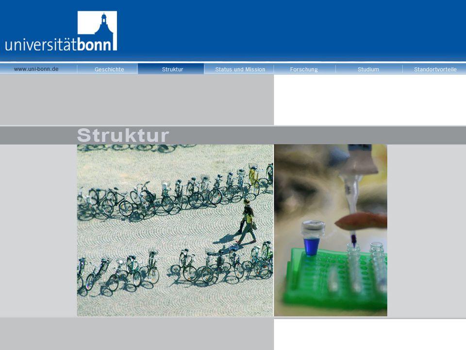 Universität Bonn in Zahlen  32.500 Studierende  3.935 wissenschaftliche Mitarbeiter (inkl.