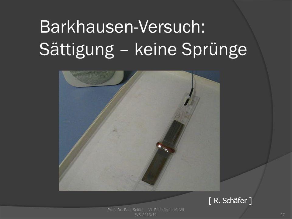 Barkhausen-Versuch: Sättigung – keine Sprünge Prof.