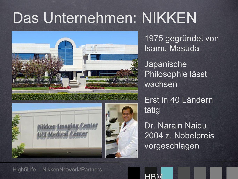 High5Life – NikkenNetwork/Partners Das Unternehmen: NIKKEN 1975 gegründet von Isamu Masuda Japanische Philosophie lässt wachsen Erst in 40 Ländern tät