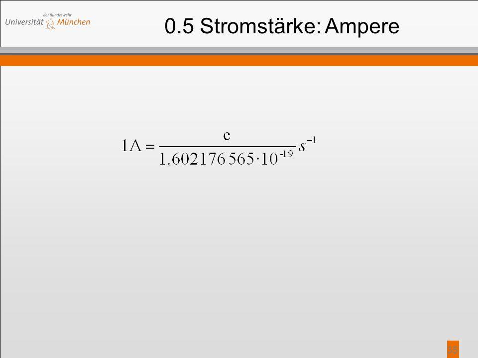 35 0.5 Stromstärke: Ampere