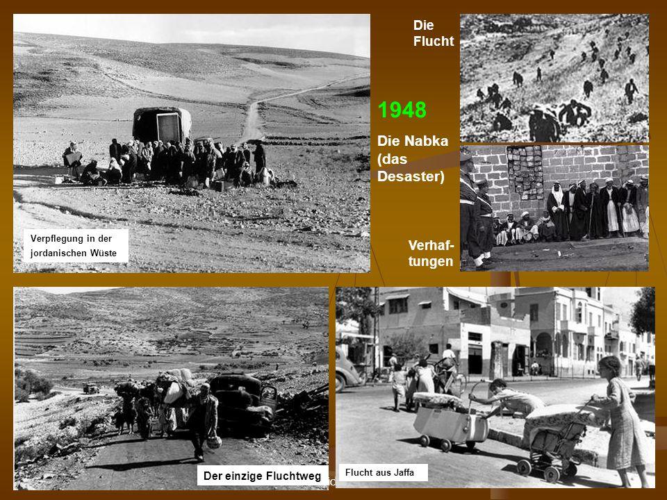 DPG-RG Osnabrück: N. Musharbash 18 Verpflegung in der jordanischen Wüste 1948 Die Nabka (das Desaster) Verhaf- tungen Die Flucht Der einzige Fluchtweg