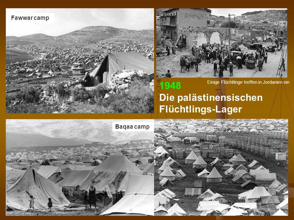DPG-RG Osnabrück: N. Musharbash 19 Fawwar camp Baqaa camp 1948 Die palästinensischen Flüchtlings-Lager Einige Flüchtlinge treffen in Jordanien ein
