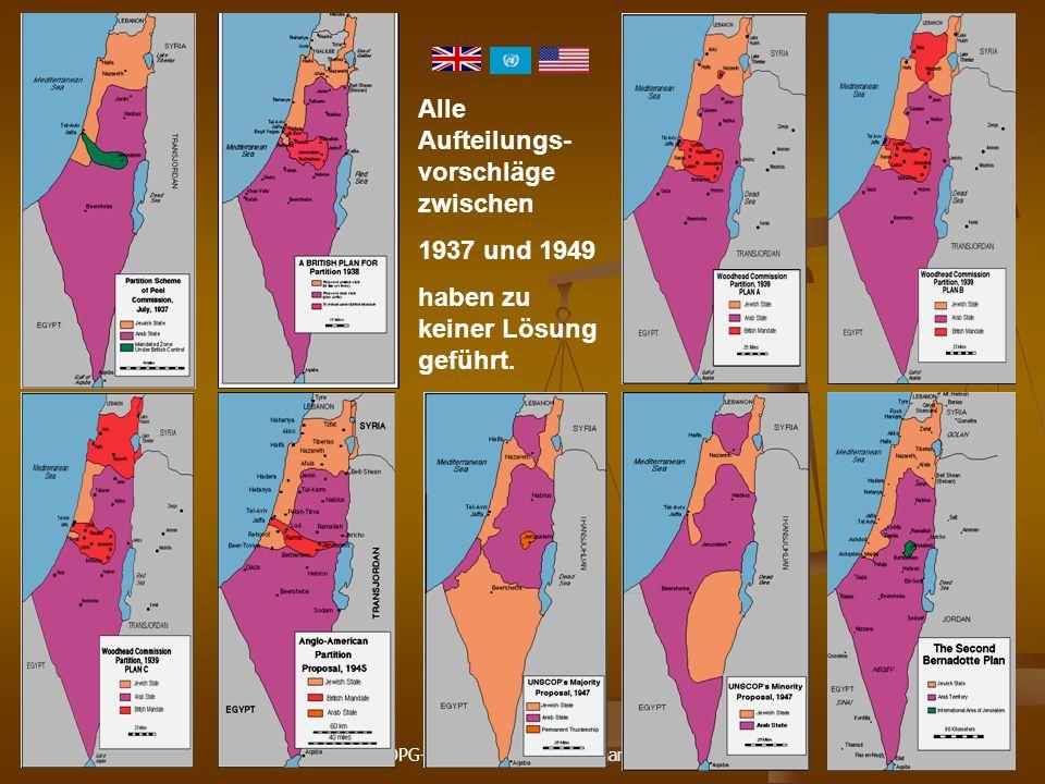DPG-RG Osnabrück: N. Musharbash 3 Alle Aufteilungs- vorschläge zwischen 1937 und 1949 haben zu keiner Lösung geführt.