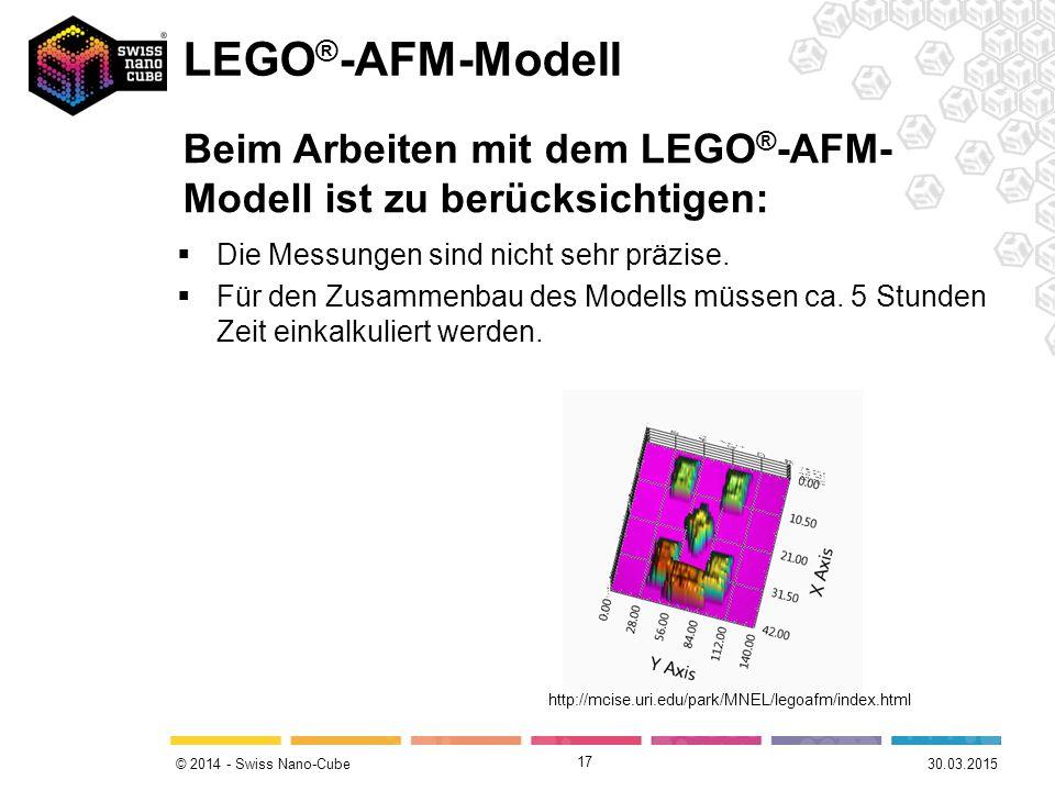 © 2014 - Swiss Nano-Cube  Die Messungen sind nicht sehr präzise.