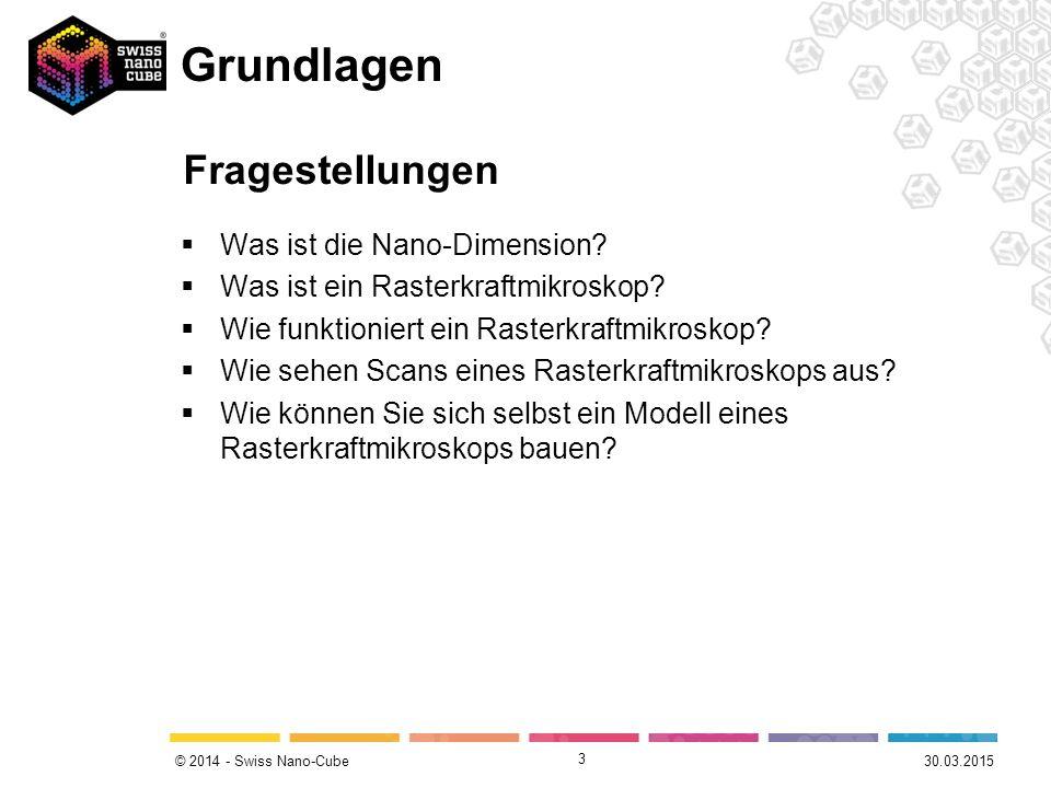 © 2014 - Swiss Nano-Cube Grundlagen  Was ist die Nano-Dimension.