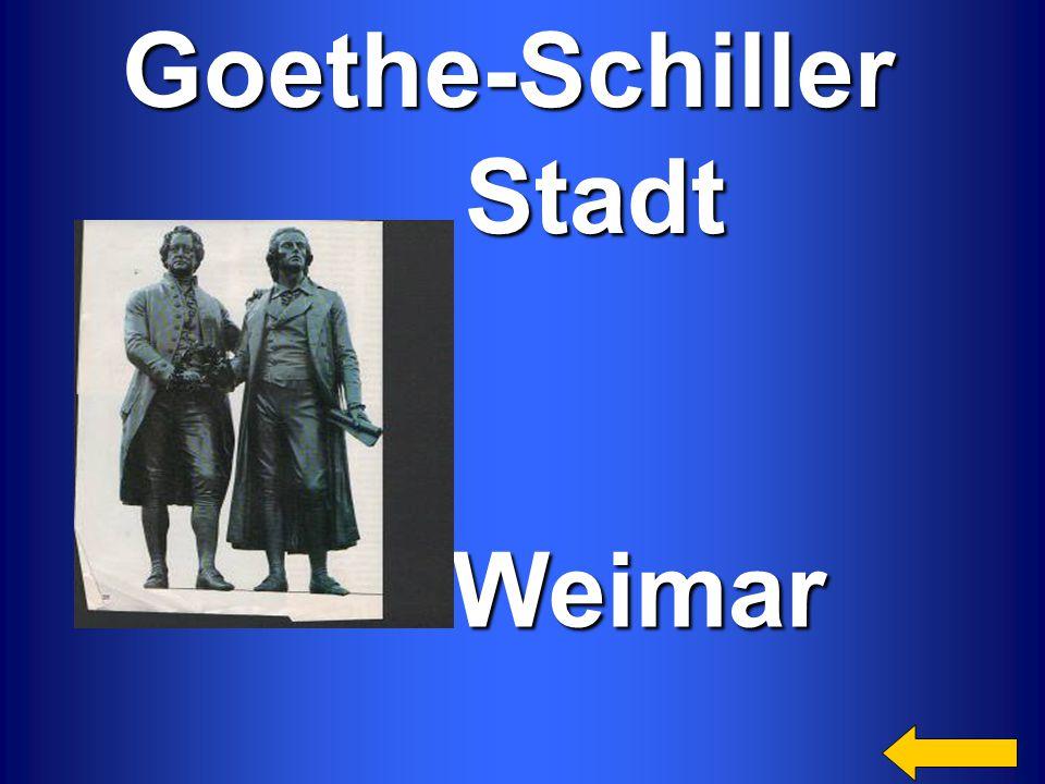 Goethe-Schiller Stadt Stadt Weimar Weimar